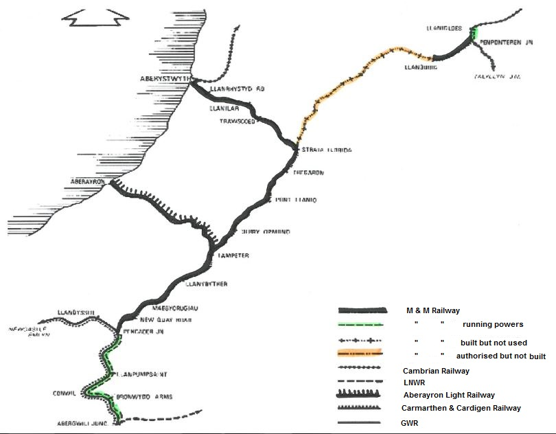 The Manchester & Milford Railway Map