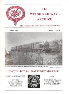 Welsh Railways Research Circle - Journal